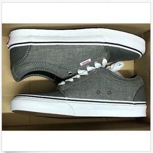 Vans Chukka Low Chambray Black Grey Skate Shoe 